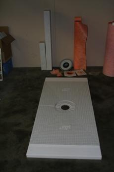 Kerdi shower system indiana floors llc - Ditra shower system ...
