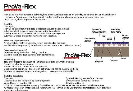 ProvoFlex The Ultimate Tile Underlayment